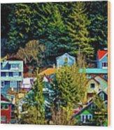A Juneau Hillside  Wood Print