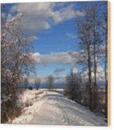 A Kootenai Wildlife Refuge Winter Wood Print
