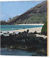 A L O H A  E Ala E Puu Olai Oneloa Big Beach Makena Maui Hawaii Wood Print