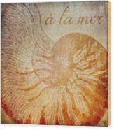 A La Mer Nautilus Wood Print