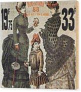 A La Tour St.jacques - Rue De Rivoli - Vintage Fashion Advertising Poster - Paris, France Wood Print