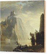 A Lake In The Sierra Nevada Wood Print
