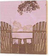 A Lake Murray Sc Sketch Wood Print