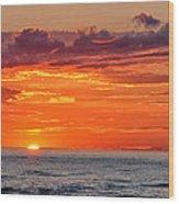 A Lake Sunset Wood Print