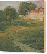 A Landscape In Vicinity Of Strijigorod Wood Print