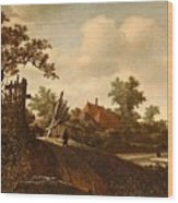 A Landscape With A Figure On A Path And A Bleaching Wood Print