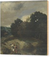 A Landscape With Tobias And The Angel Wood Print