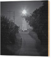 A Light In A Dark Place Wood Print