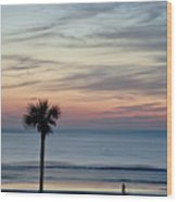 Daytona Beach Sunrise Wood Print