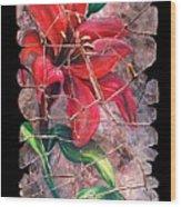 A Lily Fresco Wood Print