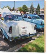 A Line Of Classic Antique Cars 3 Wood Print