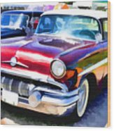 A Line Of Classic Antique Cars 9 Wood Print