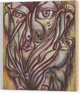 A Lion Wood Print