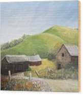 A Little Country Scene Wood Print by Reb Frost