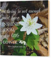 A Little Flower Wood Print