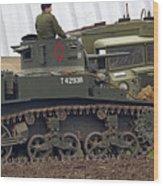 A Little Honey - M3 Stewart Light Tank Wood Print