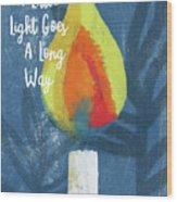 A Little Light- Art By Linda Woods Wood Print