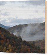 A Little Smoky Wood Print