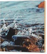 A Little Splash 3 Wood Print
