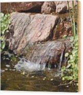 A Little Waterfall Wood Print