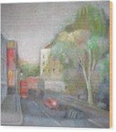 A London Street Wood Print