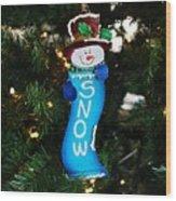 A Long Snow Ornament- Horizontal Wood Print