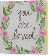 A Love Note Wood Print