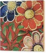 A  Trio Of Flowers Wood Print