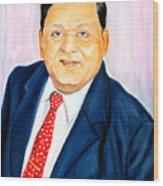A M Naik Portrait Wood Print