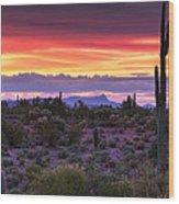 A Magical Desert Morning  Wood Print