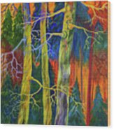 A Magical Forest Wood Print