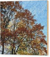 A Magnificent Fall Day Wood Print