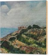A Maltese Country Landscape Wood Print