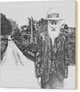 A Man And His Farm Wood Print