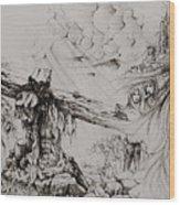 A Man Of Sorrows Wood Print