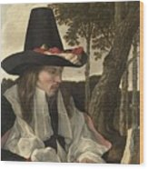 A Man Reading, Anonymous, C. 1660 Wood Print