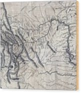 A Map Of Lewis And Clarks Track Wood Print
