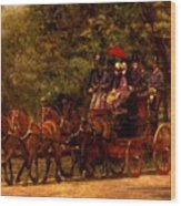 A May Morning In The Park The Fairman Robers Four In Hand 1880 Wood Print