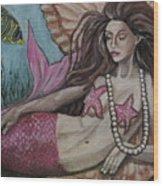 A Mermaid Named Pearl Wood Print