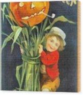 A Merry Halloween Wood Print