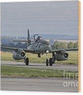 A Messerschmitt Me-262 Replica Taxiing Wood Print