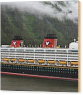 A Mickey Mouse Cruise Ship Wood Print
