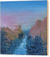 A Mighty River Canyon Wood Print