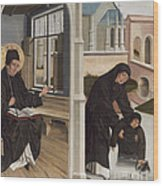 A Miracle Of Saint Benedict Wood Print