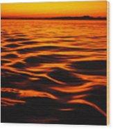 A Molten Sea Wood Print