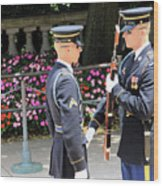 Face To Face During The Changing Of The Guard Wood Print