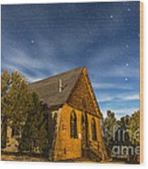 A Moonlit Nightscape Of The Historic Wood Print