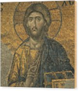 A Mosaic Of Jesus The Christ At St Wood Print