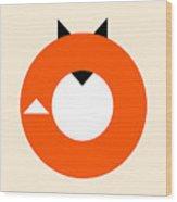 A Most Minimalist Fox Wood Print