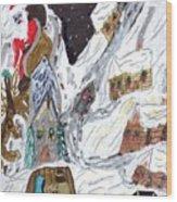 A Mountain Village Wood Print